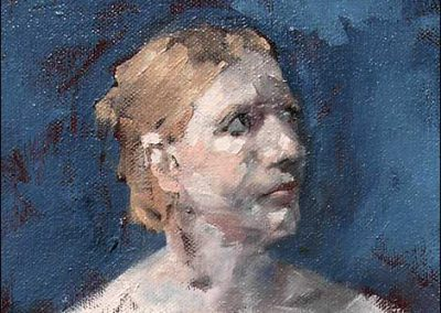 Sally (oil on canvas) by M-J Kelley