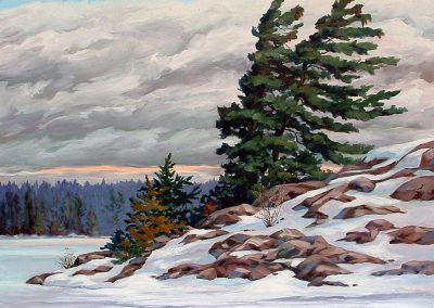 La Cloche in White (oil on canvas) by RoseMarie Condon
