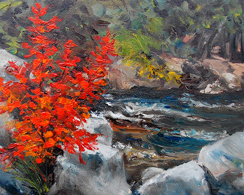 Scott's Dam (oil painting) by RoseMarie Condon