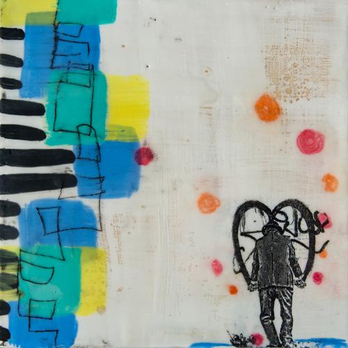 KAN Class - Beginning Encaustic - Linda Virio - Graffiti Guy 2