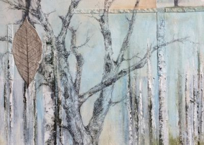 Tree Study II (mixed media on canvas) by Lesley Drummond
