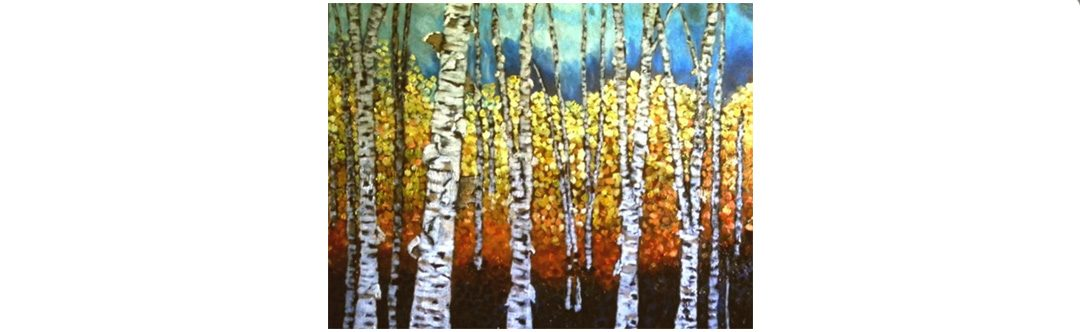 Painting Birches in Acrylic with Cindy Allan