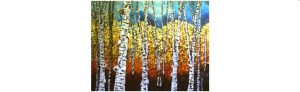 KAN - Cindy Allan - Paintng Birches in Acrylic