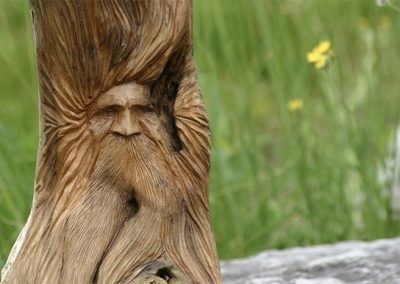 Caygeon Man (carved, cedar root) by Bill van Koot