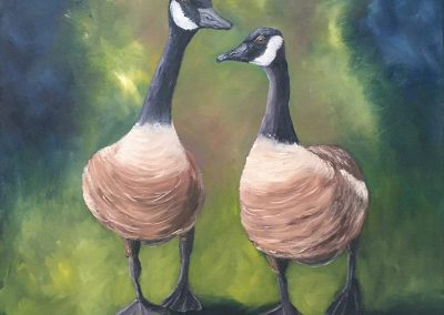 C. Joy McCallister - You Are Such A Goose (acrylic)