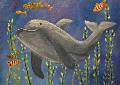 KAN Class 2020 - Childrens Acrylic - Joy McCallister - Dolphin