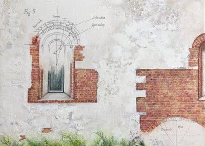Lesley Drummond - Cuernavaca Textures (acrylic on canvas)