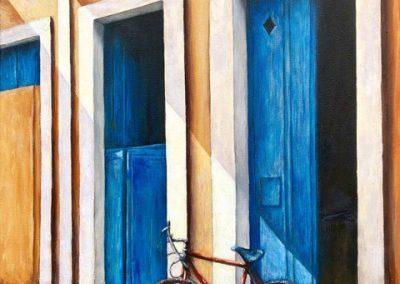 Lesley Drummond - Havana Transport (acrylic on canvas)
