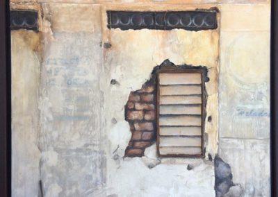 Lesley Drummond - Nuevo Centro, Havana (mixed media on canvas)