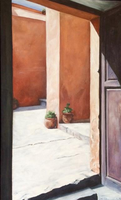 Lesley Drummond - Three Plus One (acrylic on canvas)