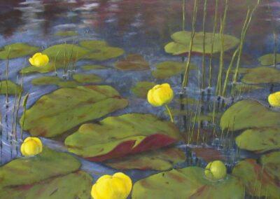Joy McCallister - Pond Lilies - Acrylics