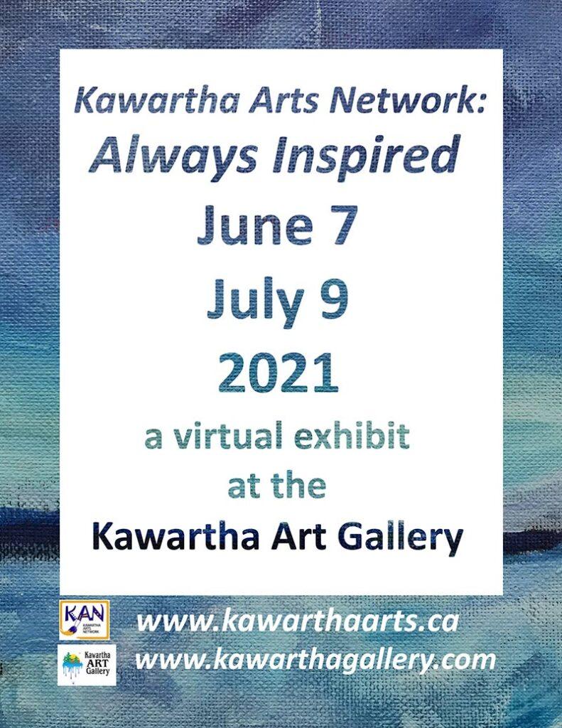 KAN - Always Inspired art show poster.