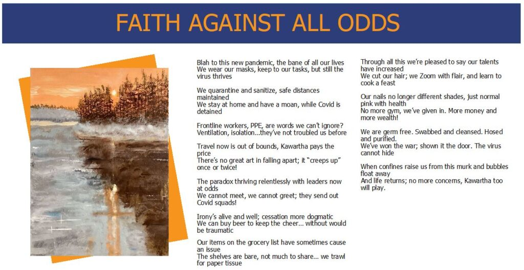 Words While We Wait - Faith Against All Odds - Poem and Artwork