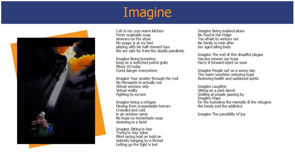 Words While We Wait - Imagine - Poem and Artwork