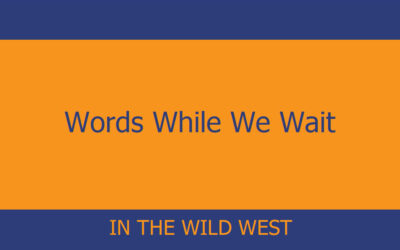 Words While We Wait – In the Wild West