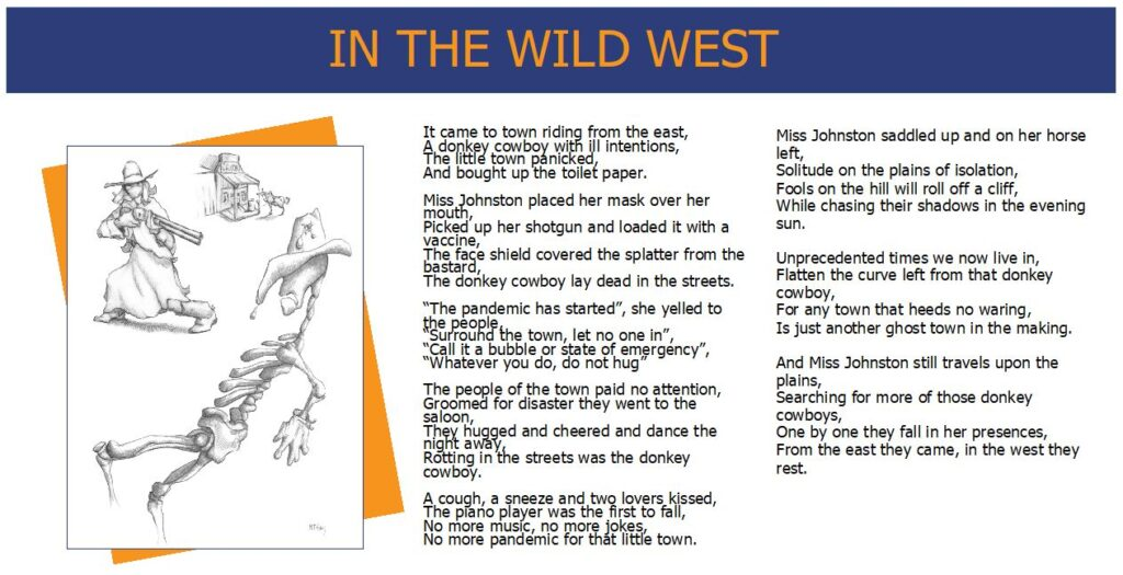 Words While We Wait - In the Wild West - Poem and Artwork