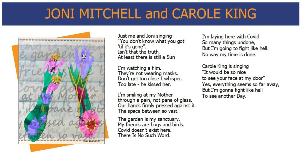 Words While We Wait - Joni Mitchell and Carole King - Poem and Artwork