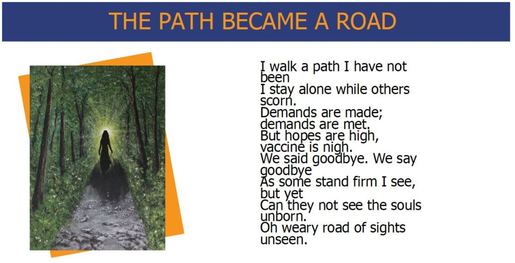 Words While We Wait - The Path Became a Road - Poem and Artwork