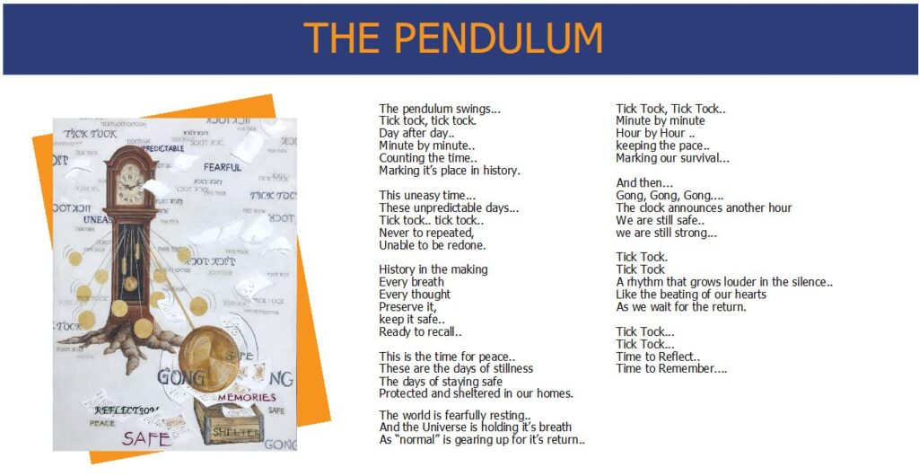 Words While We Wait -The Pendulum - Poem and Artwork