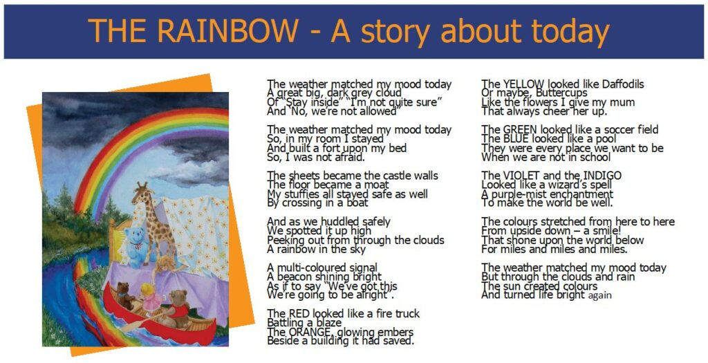 Words While We Wait - The Rainbow - A story about today - Poem and Artwork