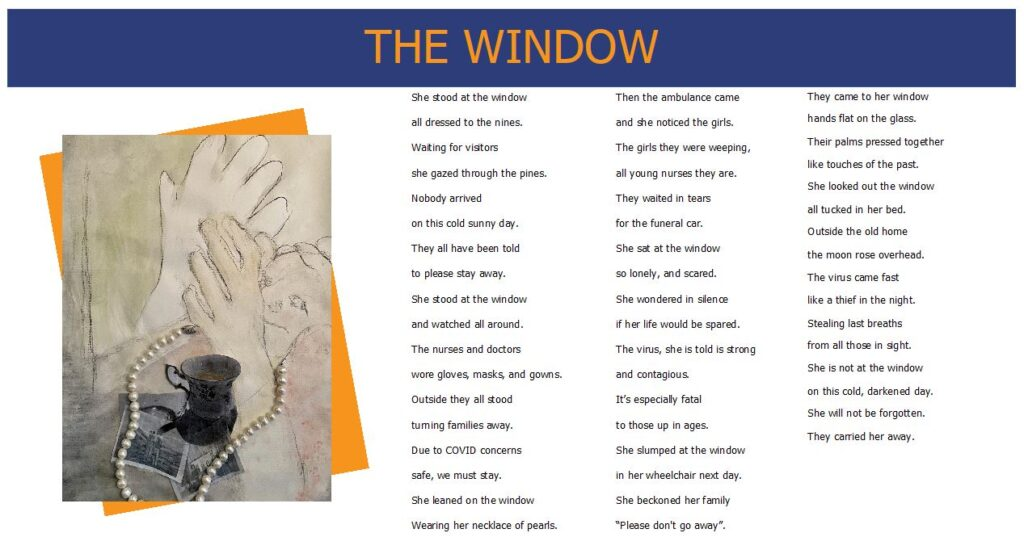Words While We Wait - The Window - Poem and Artwork